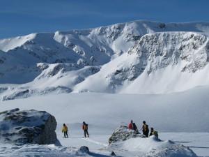 Going to Rila Lakes with ski
