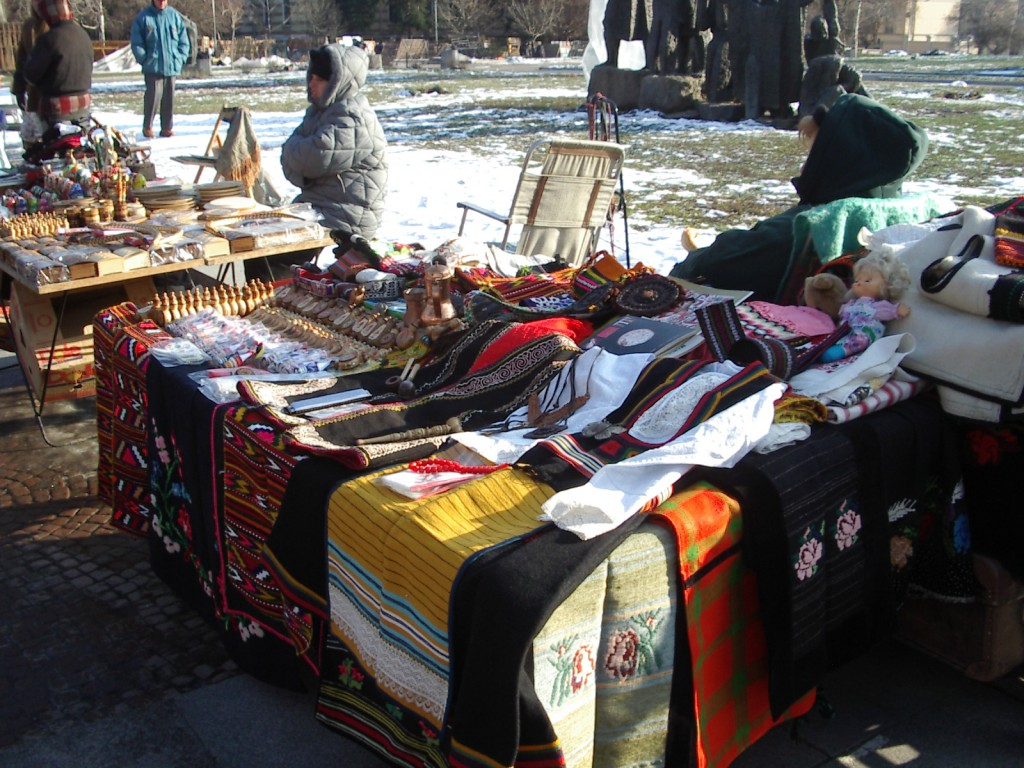 Open market in front of Alexander Nevski Cathedral